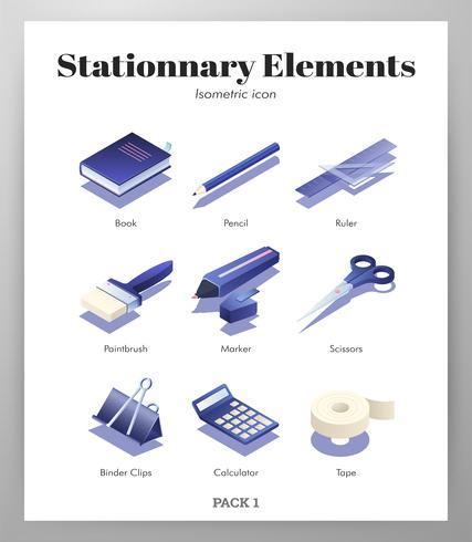Stationäre Elemente Isometrische Packung