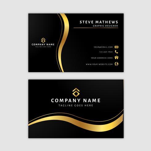 Premium Golden Business Card Template