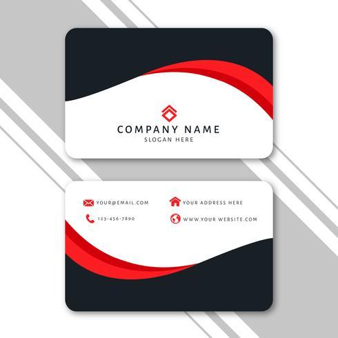 Plantilla de tarjeta de visita moderna con diseño abstracto