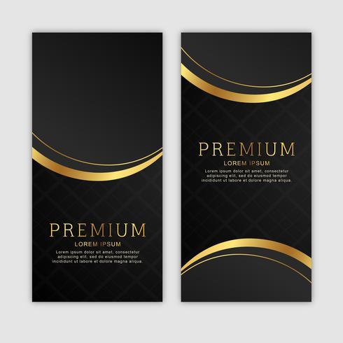 Set di banner verticali dorati premium