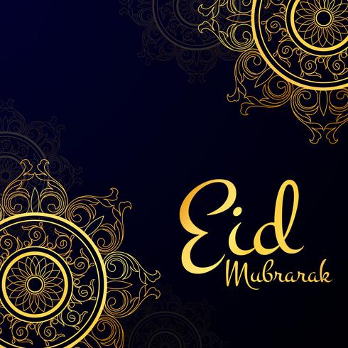 Gold Eid Mubarak Background vector
