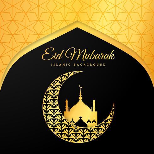 Geometric Eid Mubarak Background vector