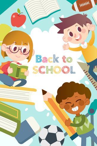 Plantillas gráficas de póster de regreso a la escuela