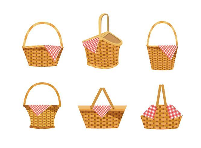 Set di cestini da picnic vuoti