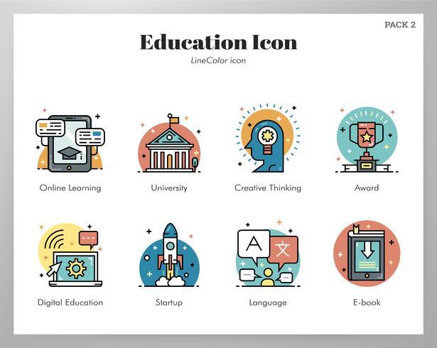Pack de iconos de educación