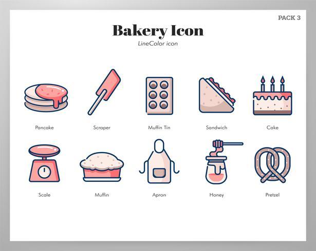 Bäckerei-Icon-Set