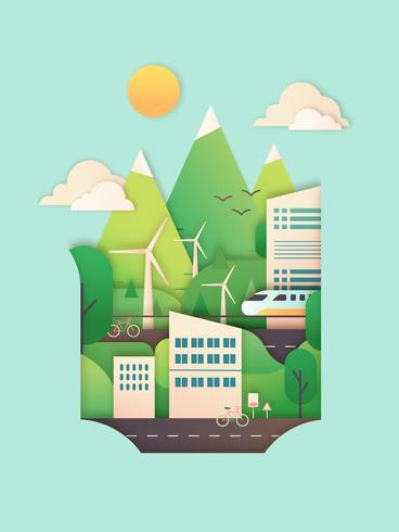 Ilustração da cidade de eco