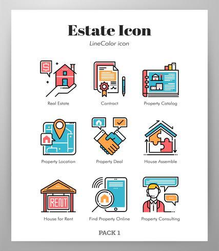 Pack de iconos de línea LineColor