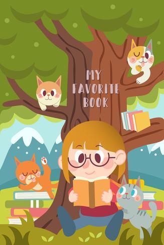 Leer con un gato
