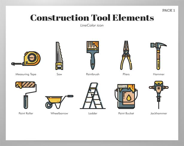 Set di strumenti di costruzione vettore