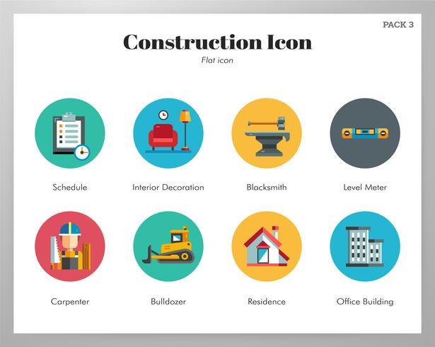 Pack de iconos de construcción