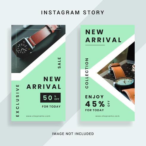 Social Media Promotion Instagram Story Template vector