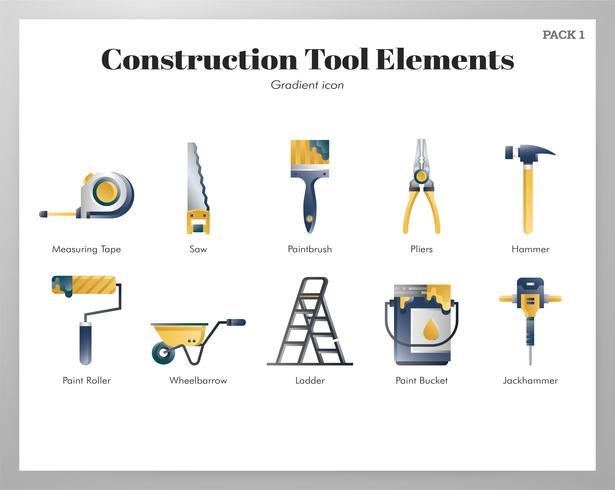 Paquete de herramientas de construcción vector