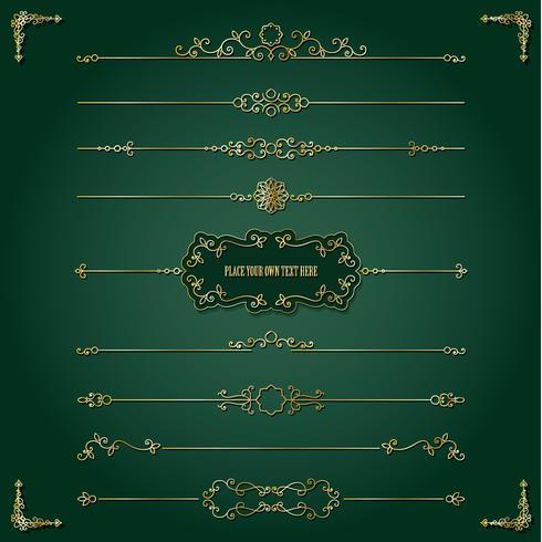 Conjunto de marco y divisores dorados Lixury.