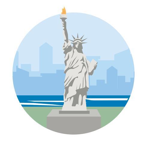 Statua della Libertà destinazione di viaggio vettore