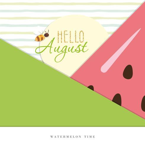 Hallo augustus. Zomer abstracte achtergrond.
