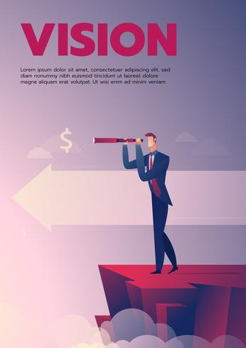 Businessman vision poster with text
