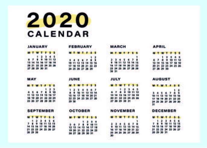 Minimal och enkel kalendermall