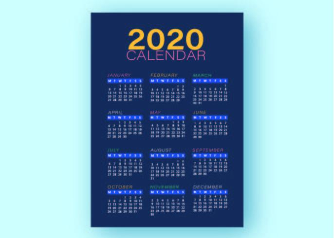 Modelo de Negócio - calendário azul