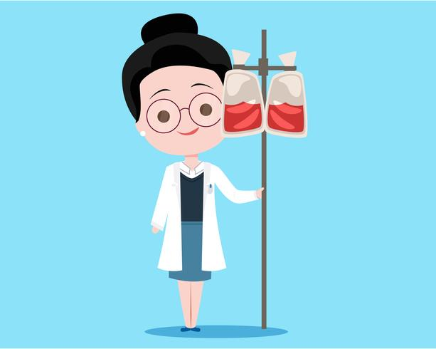 Donar doctor de sangre vector