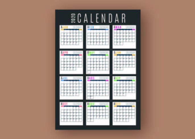 Business Calendar Template vector