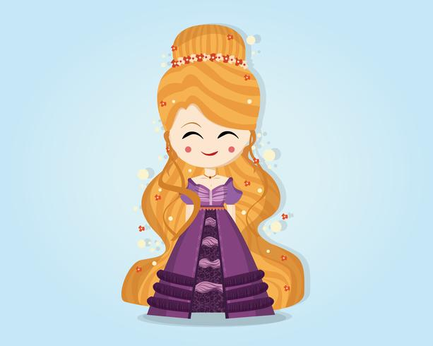 Personaje de princesa mágica vector