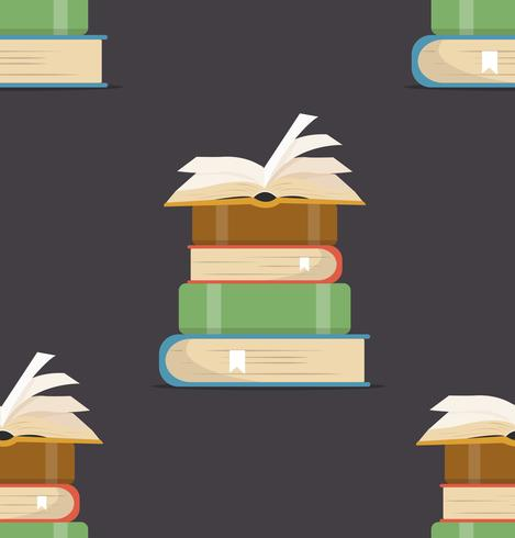 book of Stacks Seamless pattern