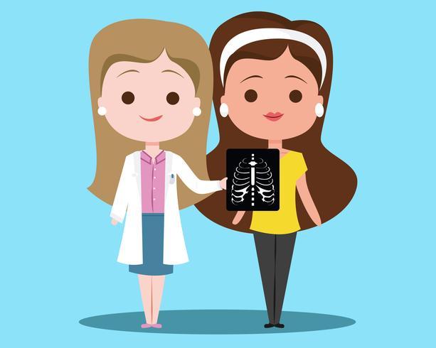 doctor de rayos x vector