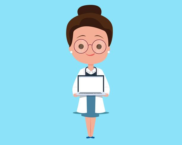 Consulta médica en línea vector
