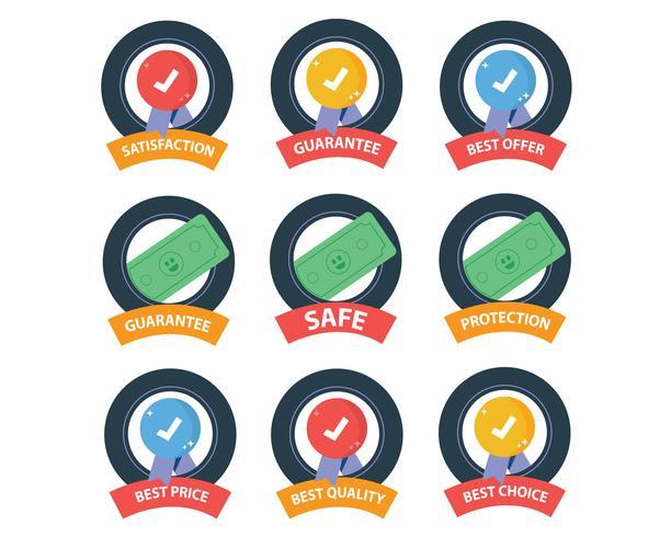 Conjunto de iconos de seguridad vector