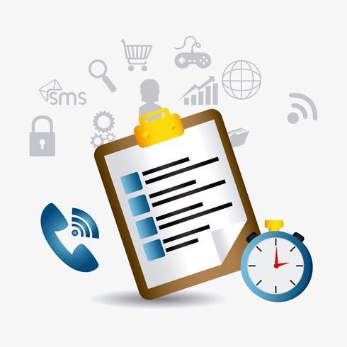 Web 2.0 Elementos de servicio al cliente vector