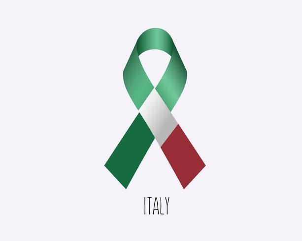 Cinta de luto de Italia vector