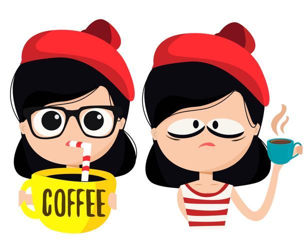 Koffie minnaar karakter