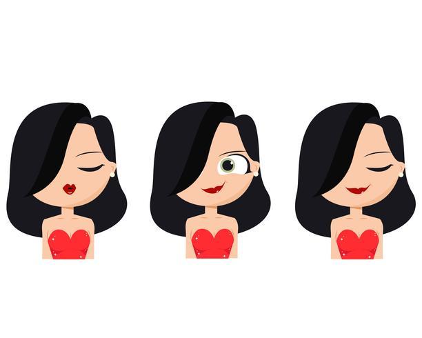 Caras latinas vector