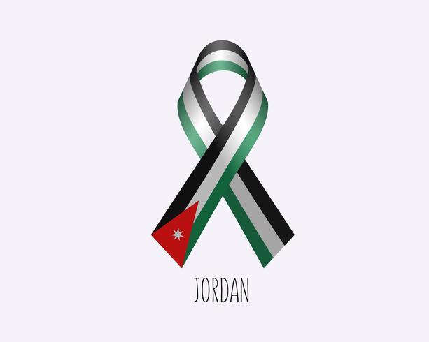 Nastro della Giordania in lutto