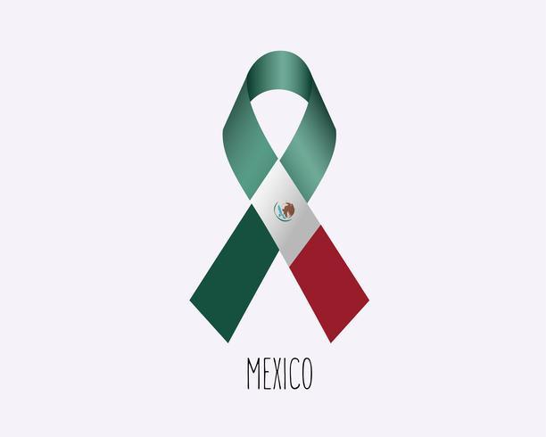Cinta de luto de México vector