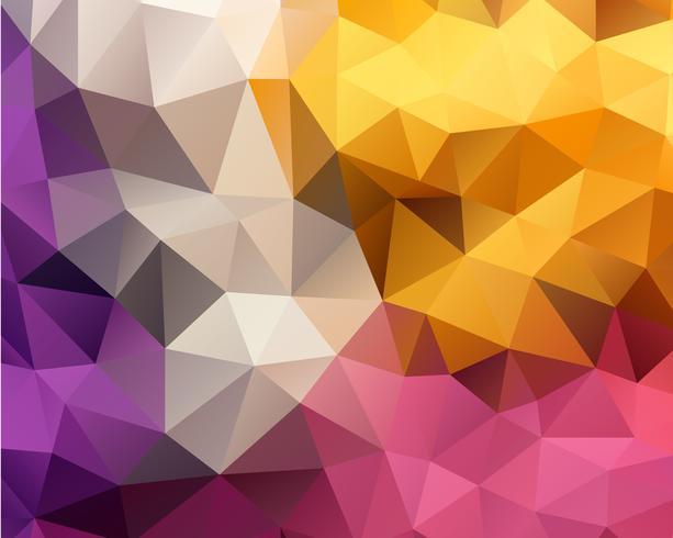 Fondo de polígono amarillo vector