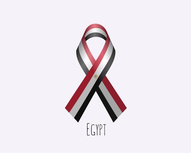 Nastro in lutto per l'Egitto