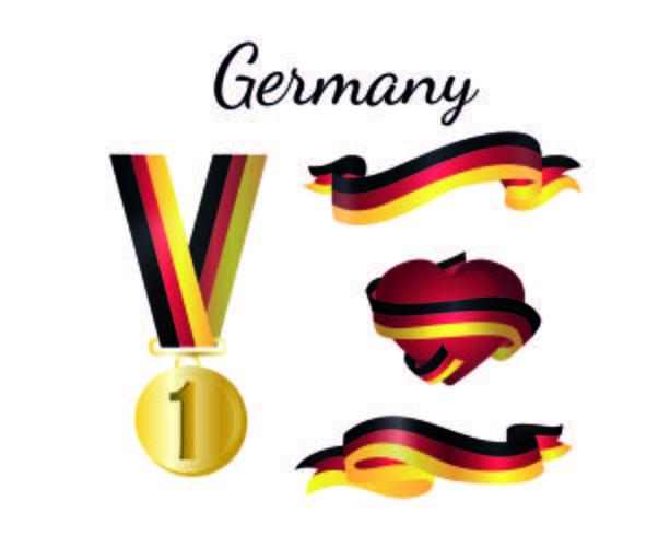 Tyskland Medalj Flagga