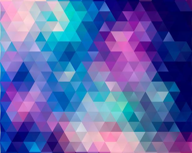 Fondo de polígono azul vector