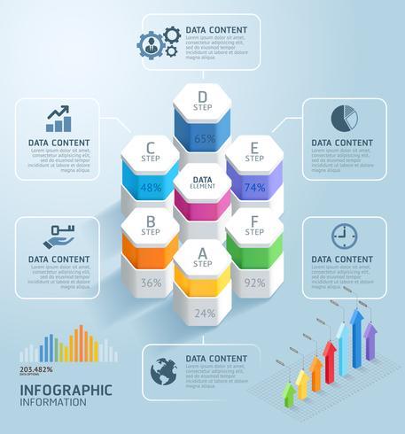 Modèle de conception infographie métier avec étapes AF
