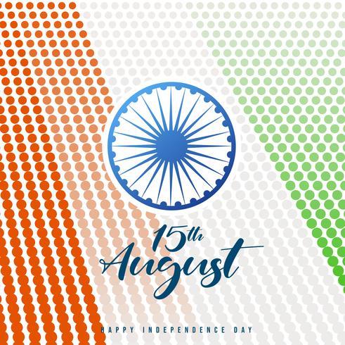 Fundo de celebração do dia da independência da Índia com roda de Ashoka