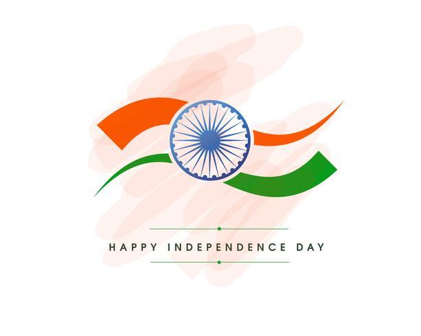 Ilustração do dia da independência na celebração da Índia em 15 de agosto