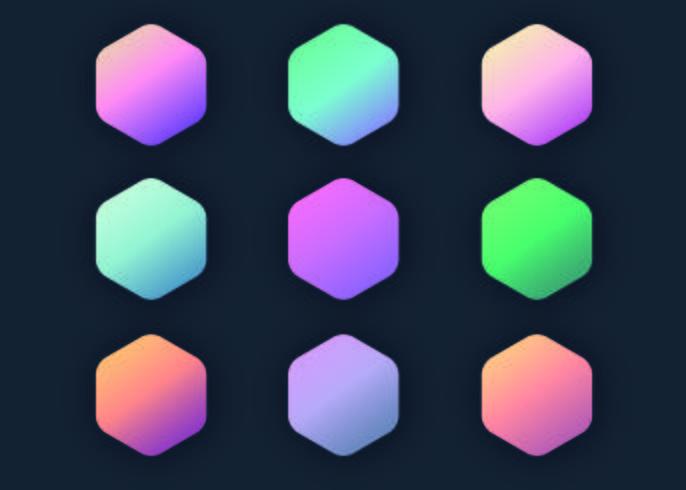 Conjunto de coleta de gradiente pastel