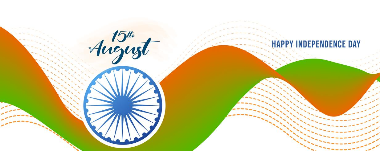 Ilustração do dia da independência na Índia