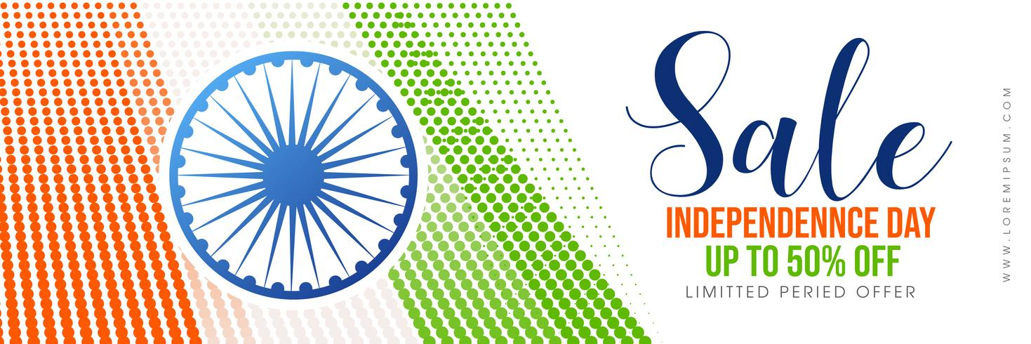 Creative  sale poster for celebration of Indian Independence Day vector