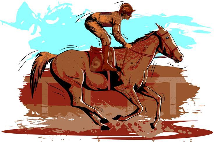 Konzept des Sportlers Reitertätigkeit tuend