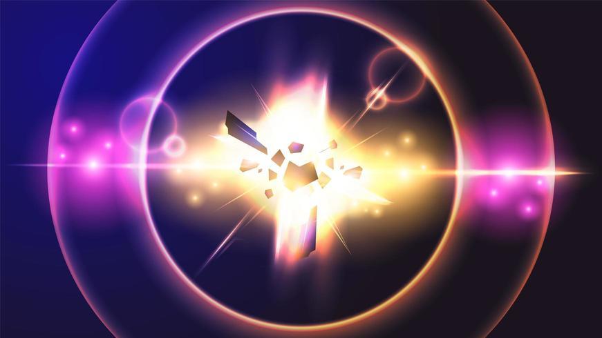 ilustração em vetor fundo efeito de luz