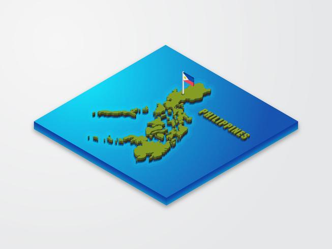 Mappa 3D Isometrica Delle Filippine