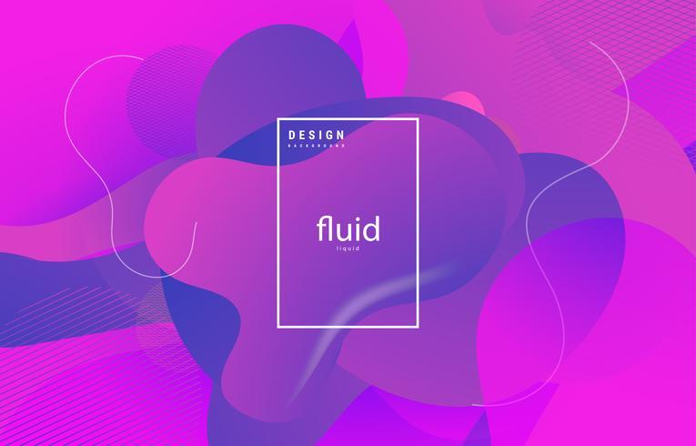 formas abstractas fluidas fondo púrpura vector